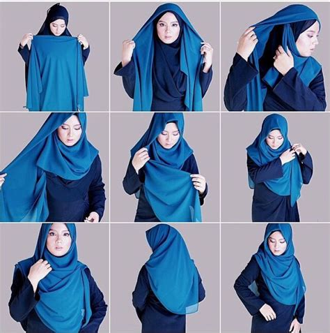 tutorial jilbab segitiga syar i 7 foto tutorial hijab segi empat syar i untuk pesta terbaru