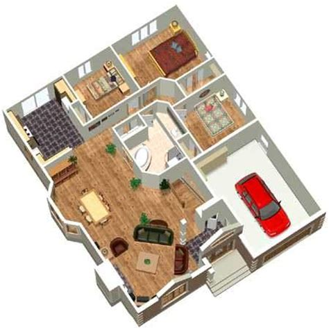 multi story home design rendered in 3d using plan3d com architectural designs