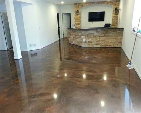 Brown epoxy basement floor paint ideas    Basements in