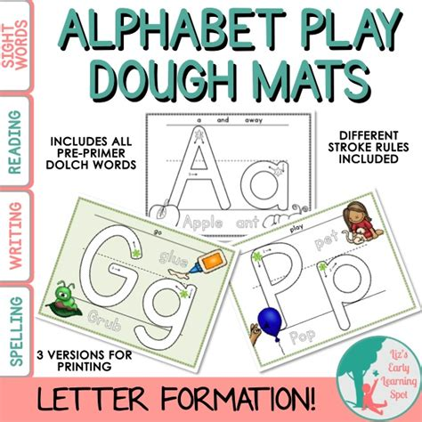 Letter Playdough Mats by Alphabet Play Dough Mats Liz S Early Learning Shop