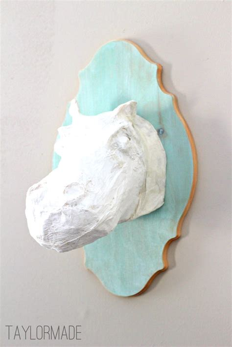 How To Make A Paper Mache Bust - color washing and a paper mache hippo be cool a