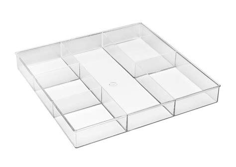 whitmor drawer organizer whitmor 6 section clear home kitchen office desk drawer