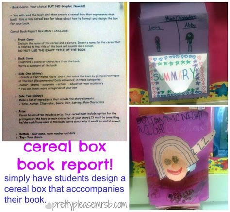 cereal box book report pictures prettyplease cereal box book report beg borrow