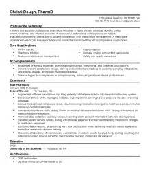 Staff Pharmacist Cover Letter by Professional Staff Pharmacist Templates To Showcase Your Talent Myperfectresume