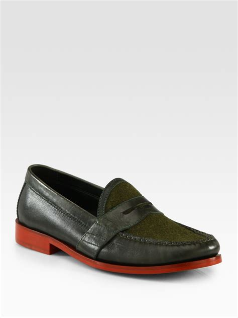 cole haan loafer cole haan air loafer in green for