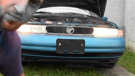 how to fix cars 1997 mercury mystique head up display how to remove install headlight on 1997 ford contour mercury mystique youtube