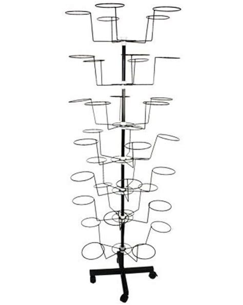 Retail Hat Rack by Details About Hat Cap Display Retail Hat Cap Rack Rotating Spinner Metal Stand Floor Floors