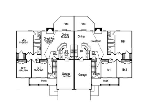 dual family house plans shadydale multi family duplex plan 007d 0020 house plans