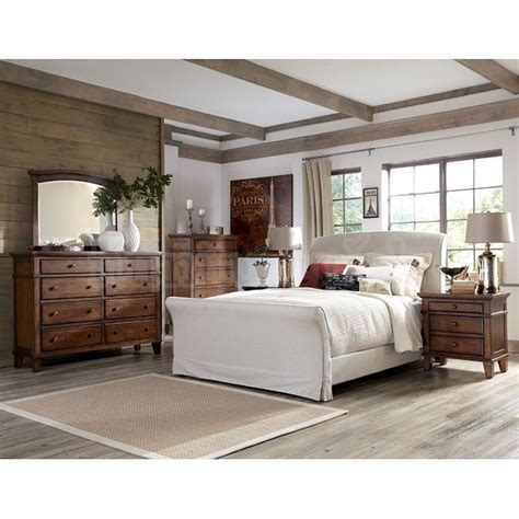 burkesville bedroom furniture burkesville bedroom set w upholstered bed rustic