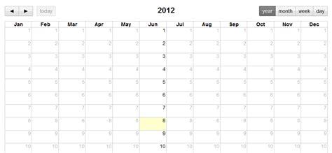 calendar layout js javascript year view in fullcalendar jquery plugin