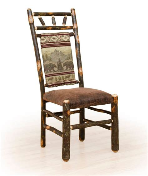 Upholstered Log Dining Chairs Rustic Furniture Log Cabin » Home Design 2017