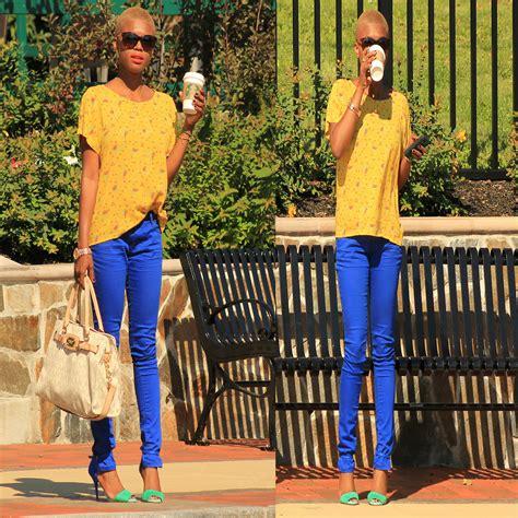 bright as day l rose l target royal blue jeans zara yellow top zara