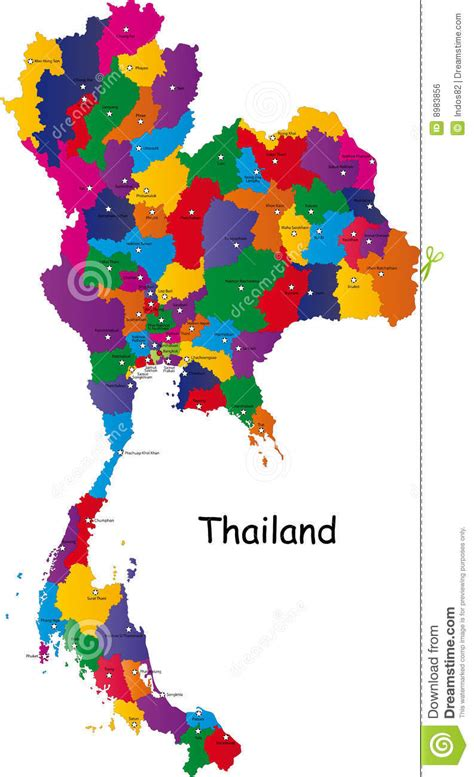 thailand map ai thailand map stock vector image of asia isolated