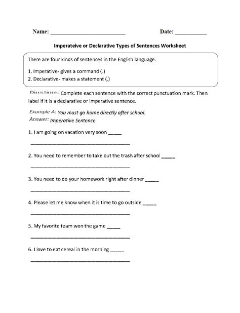 punctuation worksheets  grade   answers