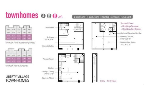 Toy Factory Lofts Floor Plans by Liberty Village Townhomes Liberty Village Floor Plans