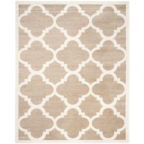 Outdoor Rugs 8 X 10 Safavieh Amherst Wheat Beige 8 Ft X 10 Ft Indoor Outdoor Area Rug Amt423s 8 The Home Depot