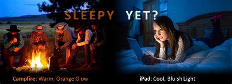 sleepy   light  electronics affects sleep
