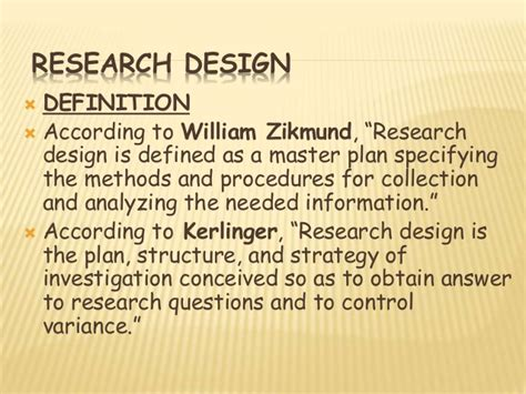 design definition research what is research design explain importance of research