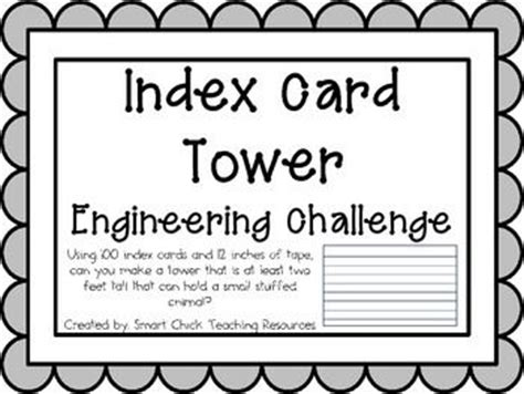 index card tower engineering challenge project great stem activity classroom beanie