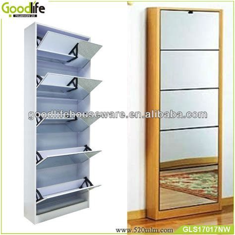 wall mounted shoe cabinet 5 layer wall mounted shoe storage mirror cabinet buy