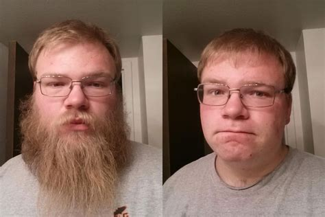 hairy before and shaved photos girlfriend fails to recognize boyfriend after his clean