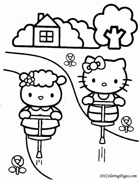 hello kitty thank you coloring pages free printable hello kitty coloring pages coloring home
