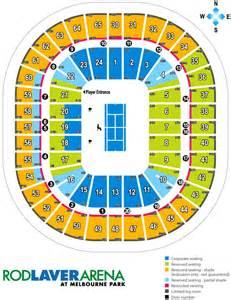rod laver arena floor plan rod laver arena seating plan map events parking