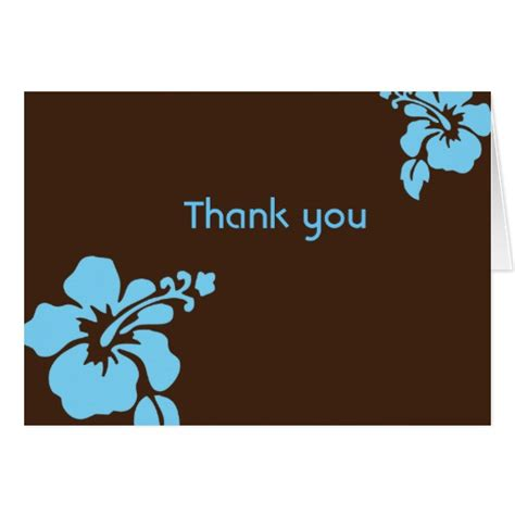 hawaiian thank you card template luau thank you cards luau thank you card templates