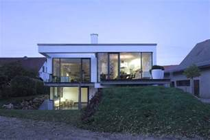 a split level house built in a difficult area of germany