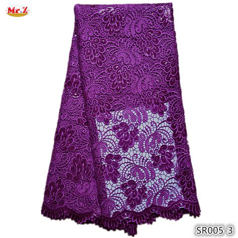 styles of purple cordlace fashion purple african cord lace fabric 2015 with sequins