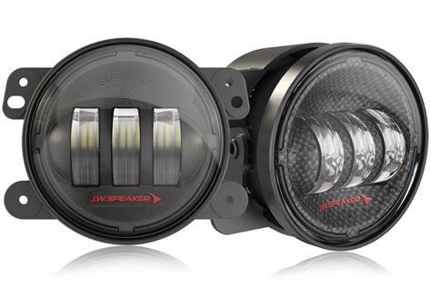jw speaker fog lights jeep jk install jw speaker 6145 j2 series recon hard rock steel bumper
