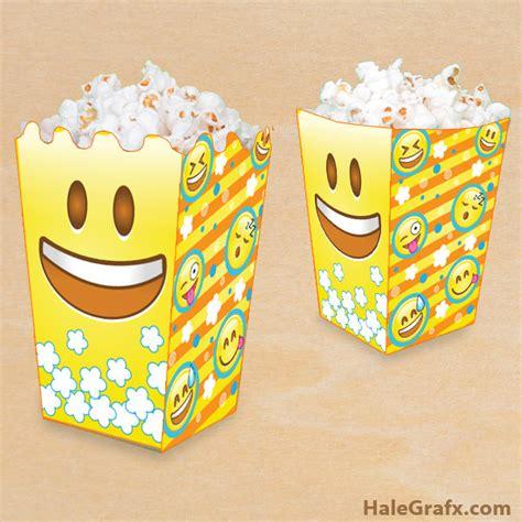 printable emoji popcorn box