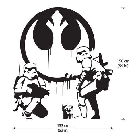 Wandaufkleber Banksy by Banksy Wars Stormtrooper Wandaufkleber Wandtattoo