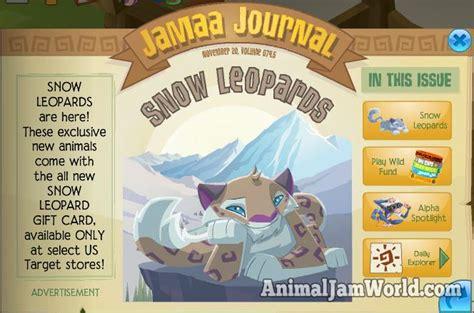 Animal Jam Free Membership Gift Card Codes - animal jam snow leopard codes animal jam world