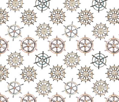 fabric pattern wheel ships wheel fabric emmaallardsmith spoonflower