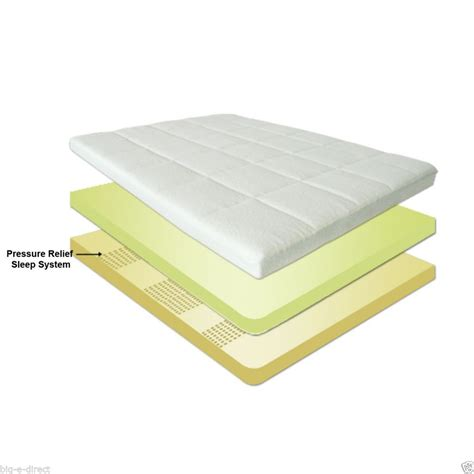 Foam Mattress Pad by 4 Quot Pressure Relief Memory Foam Mattress Topper Bed Pad