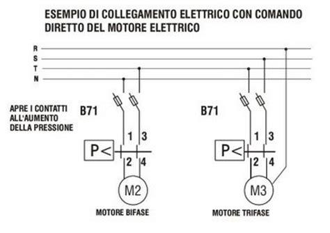 Pressostato Autoclave Collegamento Elettrico by Pressostato Per Controllo Di Motori Monofase Impianti