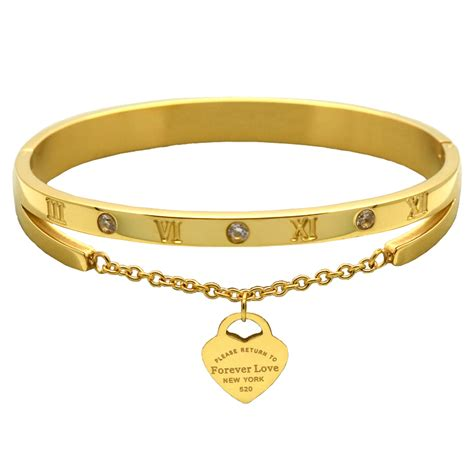 Women Gold Plated Bracelet / Bangle   free shipping worldwide
