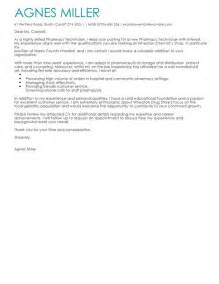 Cover Letter For A Pharmacy Technician by Pharmacy Technician Cover Letter Exles For Healthcare