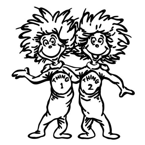 free coloring pages of thing one and thing 2