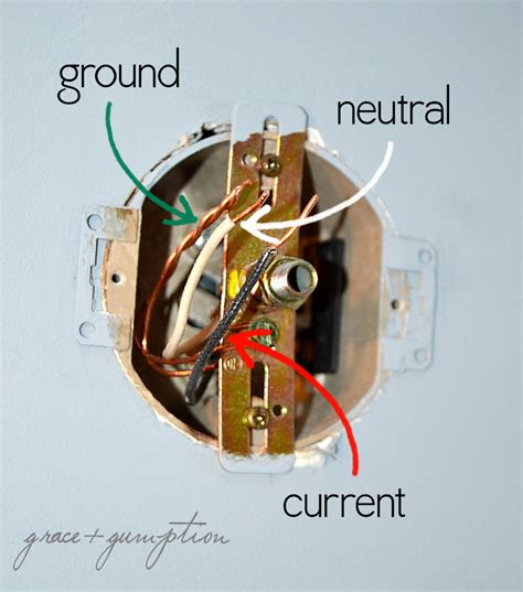Light Fixture No Ground Wire How To Replace A Light Fixture Grace Gumption
