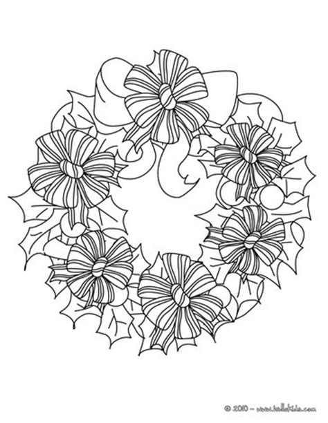 wreath bow coloring page bows and ribbons wreath coloring pages hellokids com