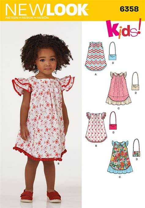 pattern from image online discontinued new look pattern 6358 child s dresses and