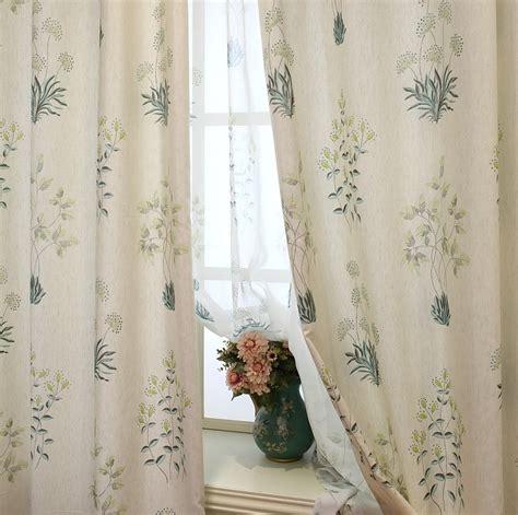 botanical curtains beige curtain