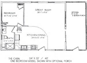 Small House Plans 24 X 32 One Bedroom Cabin Floor Plans One Bedroom Cabin Floor
