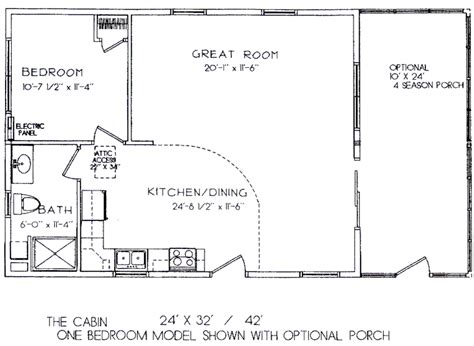 one room cabin floor plans one bedroom model 24 x 32 view floor plan build my own