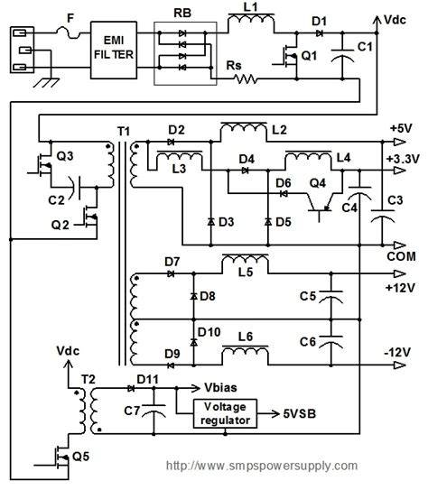 atx 450w smps circuit diagram 450w atx power supply schematic diagram efcaviation