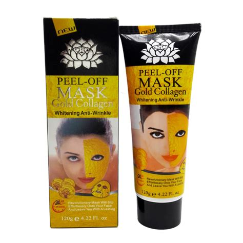 Collagen Gold Mask aliexpress buy 120g 24k gold mask collagen mask peel skin whitening anti