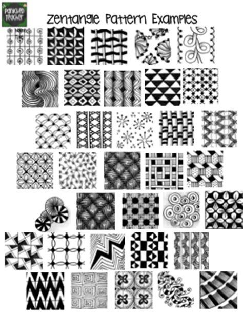 pattern drawing exles zentangle trees panicked teacher s blog