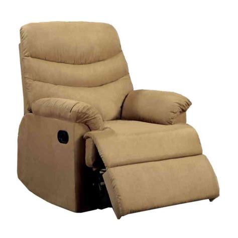 tan microfiber recliner home decorators collection clive microfiber recliner in